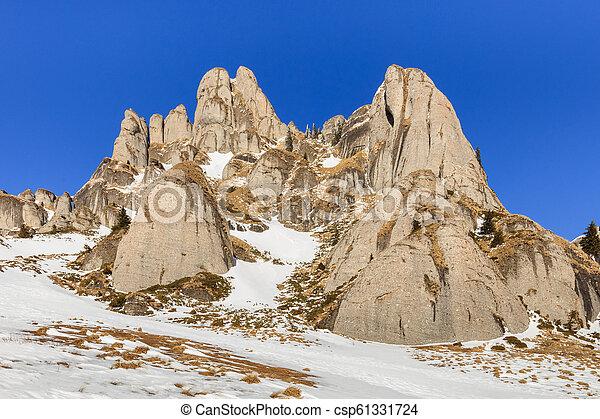 mountain landscape in winter - csp61331724