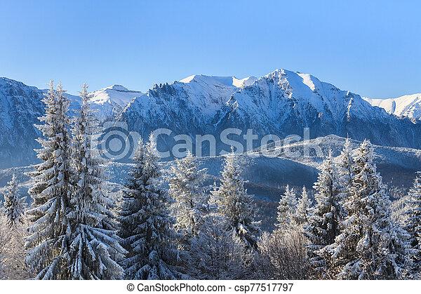 mountain landscape in winter - csp77517797