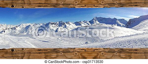 mountain landscape in winter - csp31713530