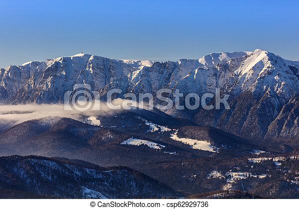 mountain landscape in winter - csp62929736