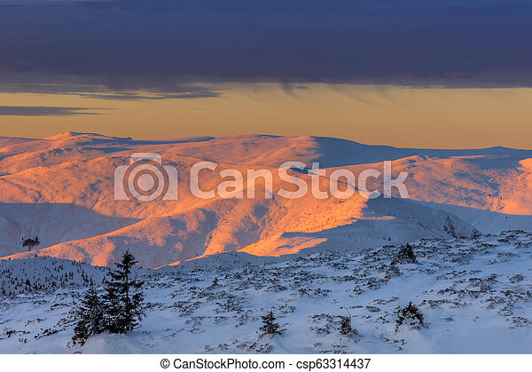 mountain landscape in winter - csp63314437