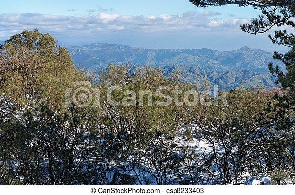Mountain landscape in winter - csp8233403