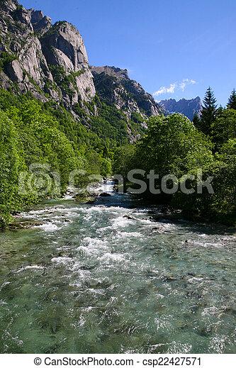 Mountain Landscape - Mountain River - csp22427571