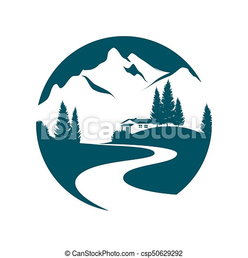 mountain landscape pictogramm - csp50629292
