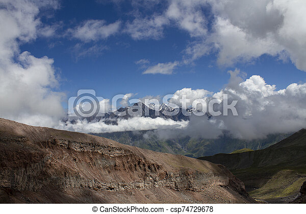 Mountain landscape view - csp74729678