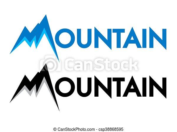 Mountain Letter Art Symbol