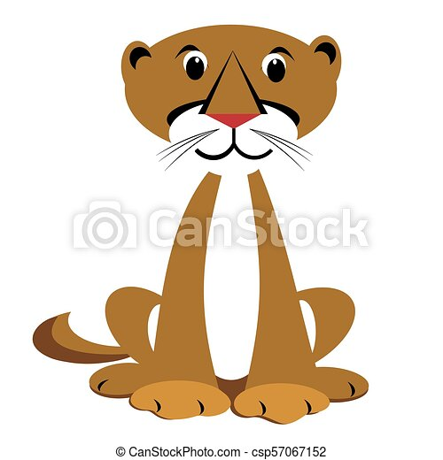 mountain lion clipart sitting happy mountain lion animal clipart rh canstockphoto com mountain lion black and white clipart mountain lion clipart free