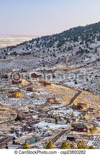 mountain living at Colorado foothills - csp23800282