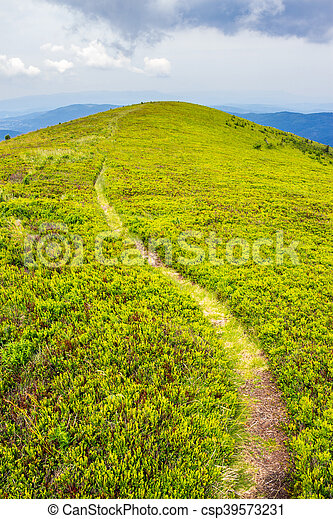 mountain path uphill to the sky - csp39573231