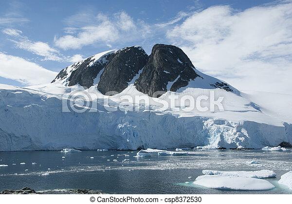 Mountain peak in Antarctica. - csp8372530