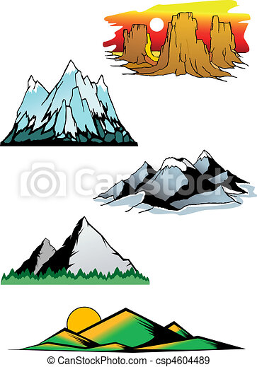 Mountain peaks - csp4604489