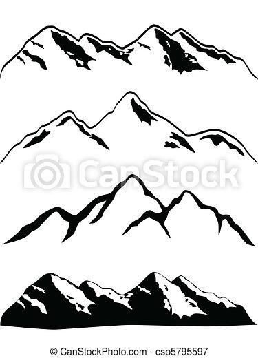 Mountain peaks - csp5795597
