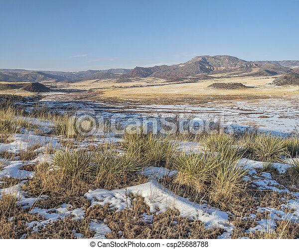 mountain ranch at Colorado foothills - csp25688788