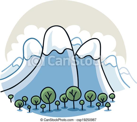 mountain range cartoon mountains curve up towards the sky vector rh canstockphoto com  mountain range outline clipart