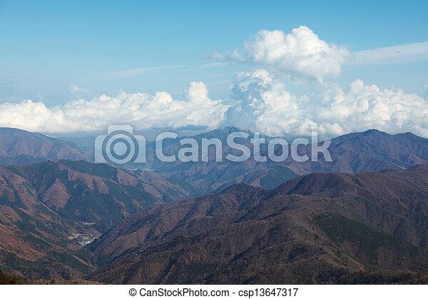 mountain range - csp13647317