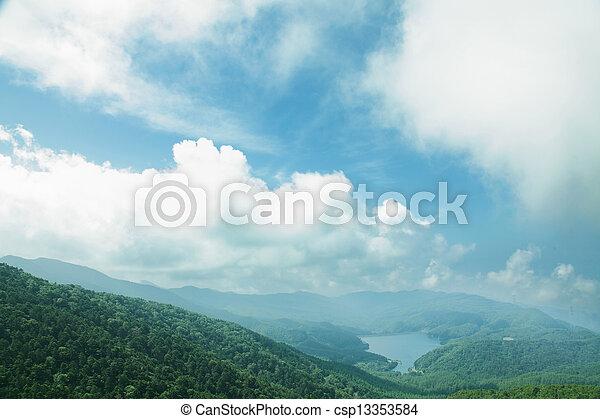 mountain range - csp13353584