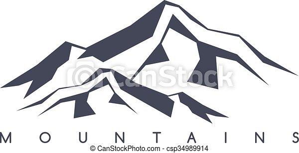 great mountain range theme vector art illustration vector clip art rh canstockphoto com Mountain Outline Clip Art rocky mountain range clipart
