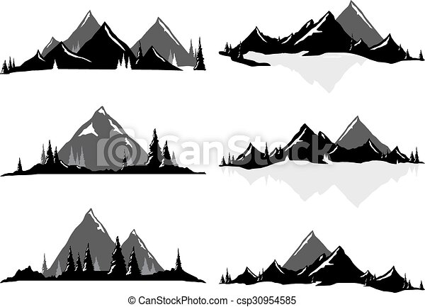 mountain ranges and scenic scenes various vector vector search rh canstockphoto com rocky mountain range clipart rocky mountain range clipart