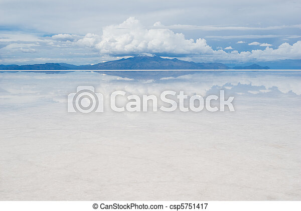 mountain, reflecting in the lake - csp5751417