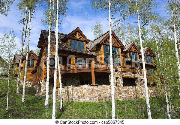 Mountain resort house - csp5867345