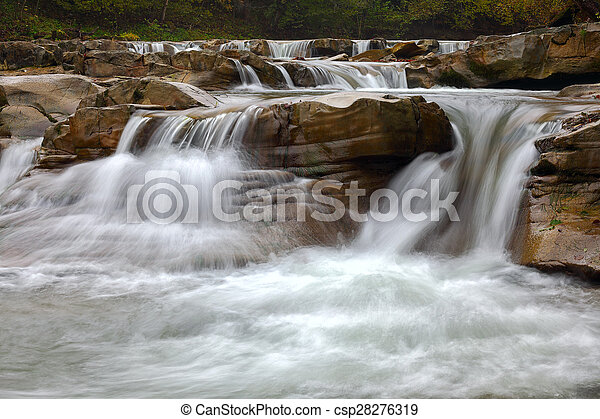 mountain river at summer time - csp28276319