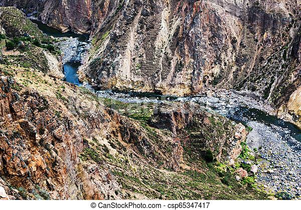 mountain river in a canyon - csp65347417
