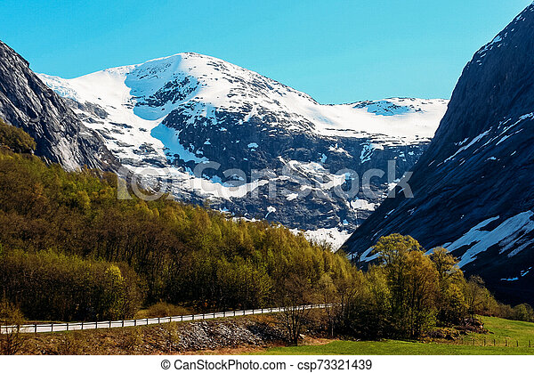 Mountain road in Norway - csp73321439