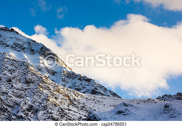 mountain snow landscape - csp24786551