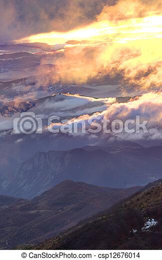 Mountain sunrise - csp12676014