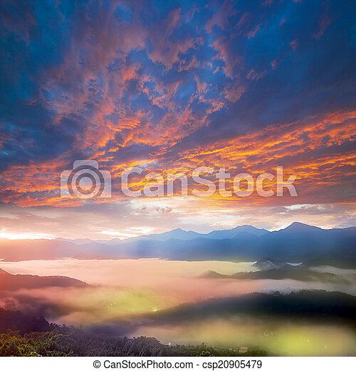 Mountain Sunrise - csp20905479