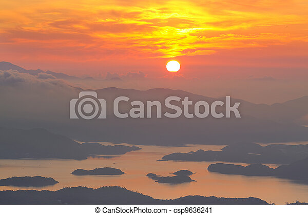 Mountain Sunrise - csp9636241
