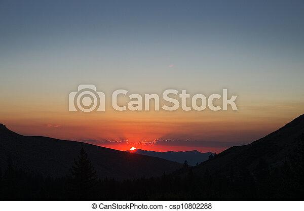 Mountain Sunrise - csp10802288