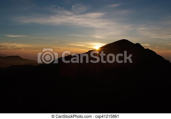 Mountain Sunrise - csp41215861