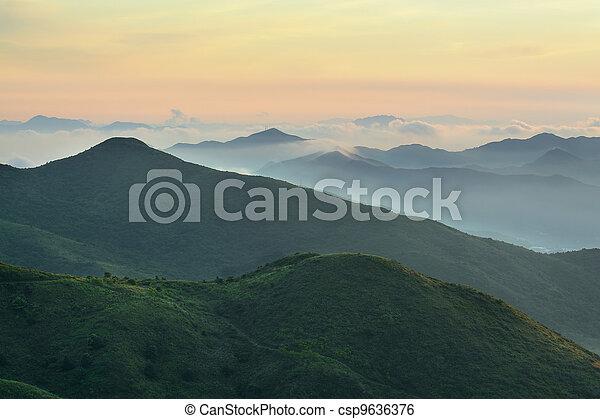 Mountain Sunrise - csp9636376