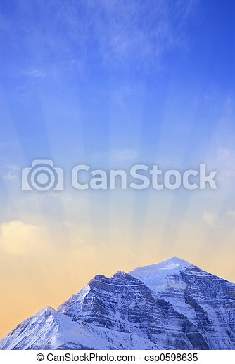 Mountain sunrise - csp0598635