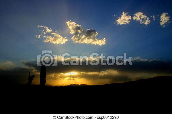 Mountain Sunset - csp0012290