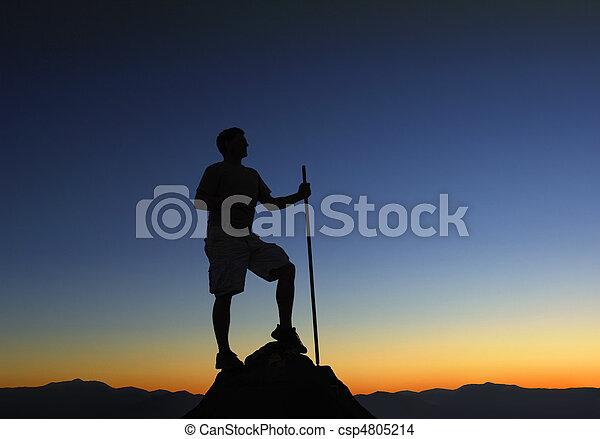 Mountain Top Sunrise - csp4805214