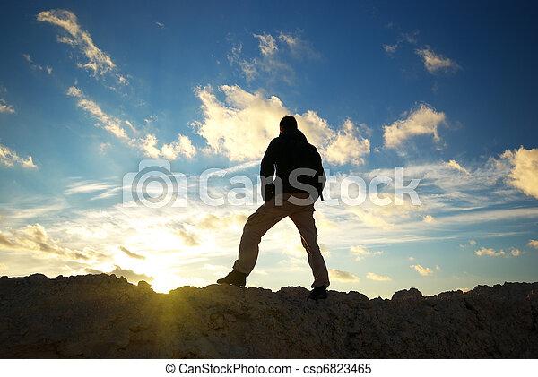 mountain., touriste - csp6823465