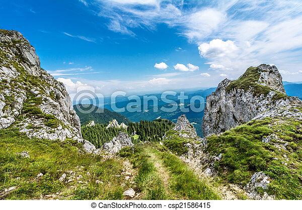 Mountain track in Romania - csp21586415