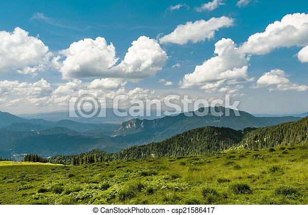 Mountain track in Romania - csp21586417