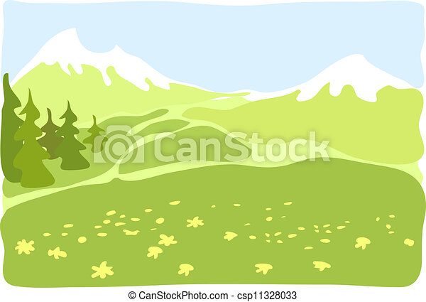 Mountain valley. - csp11328033