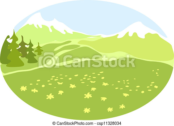 Mountain valley. - csp11328034