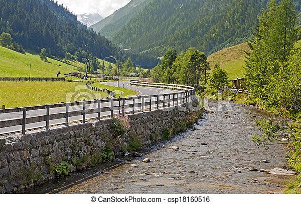 Mountain valley in Austria - csp18160516