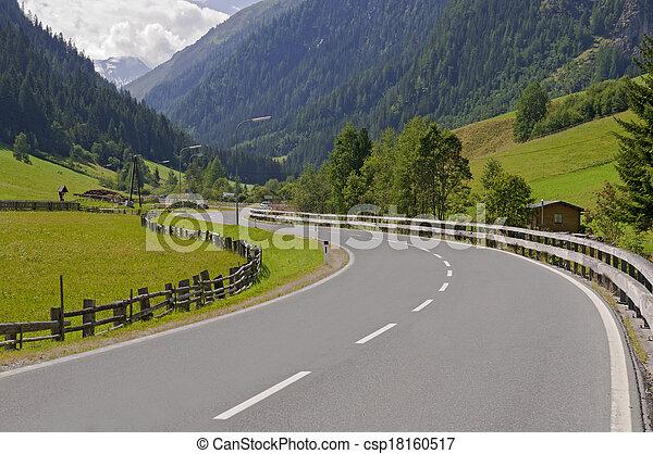 Mountain valley in Austria - csp18160517