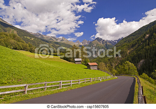 Mountain valley in Austria - csp15607605