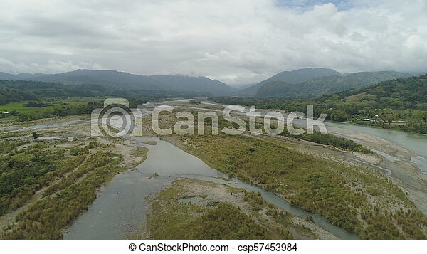 Mountain valley in the Philippines - csp57453984