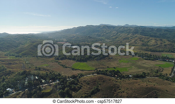 Mountain valley in the Philippines - csp57517827