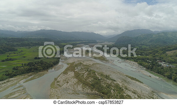 Mountain valley in the Philippines - csp57853827