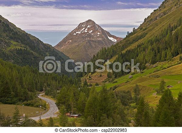 Mountain valley, Tirol, Austria - csp22002983