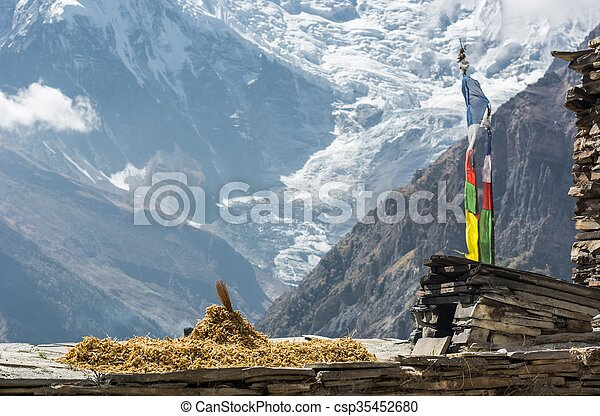 Mountain view, Annapurnas in Nepal. - csp35452680